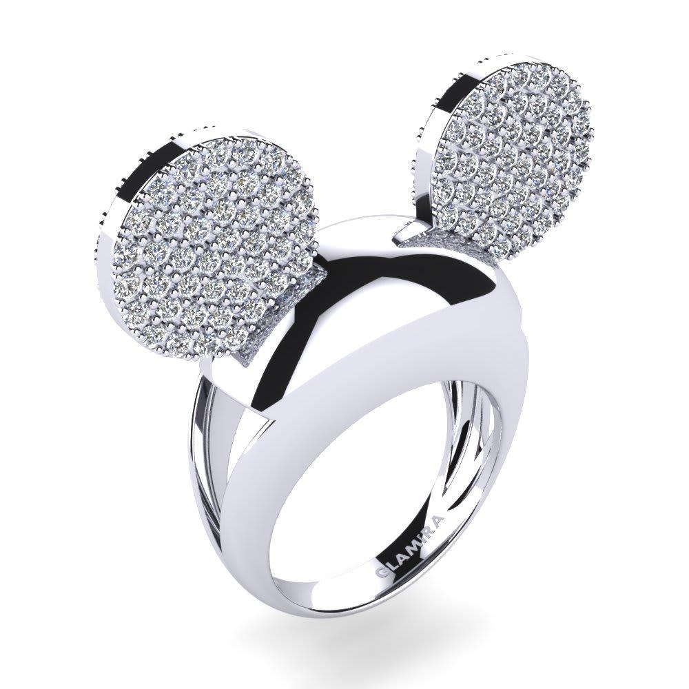 Kids White Diamond Ring
