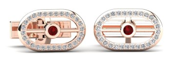 Ruby & Diamond Gold Cufflink