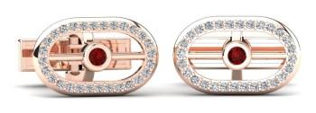 Ruby & Diamond Gold Cufflink