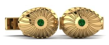 Emerald Gold Cufflink
