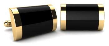 Gold Onyx Cufflinks