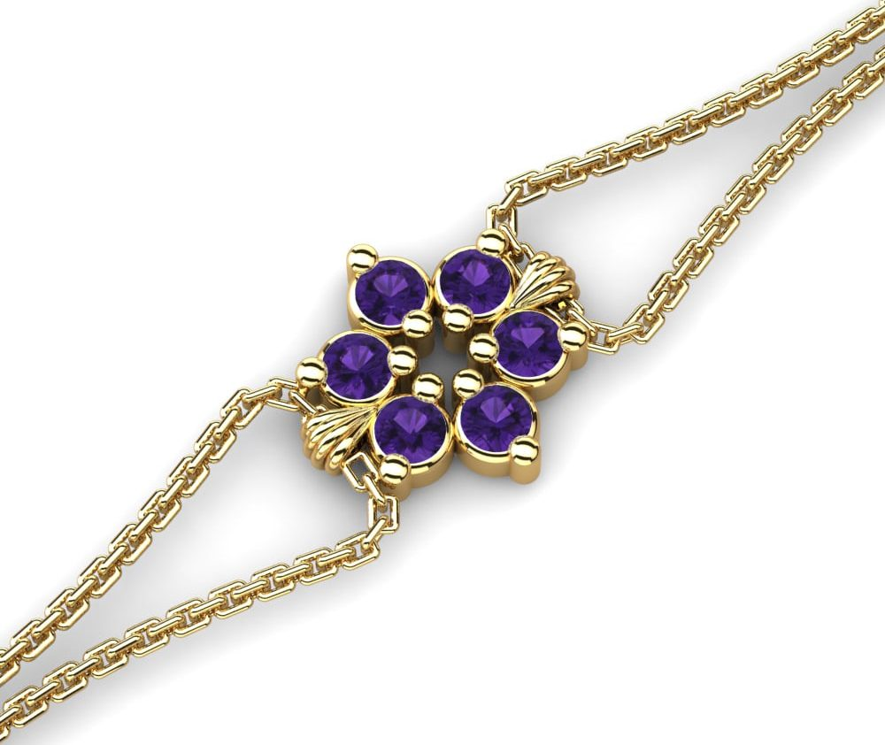 amethyst bracelet yellow gold