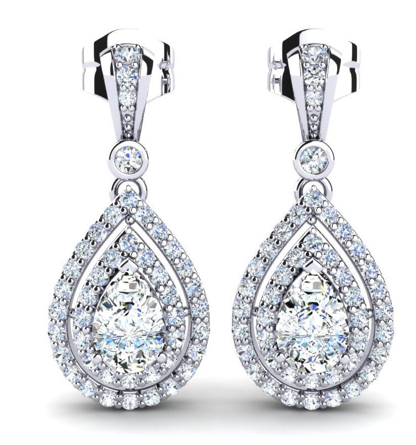 classic earrings diamond