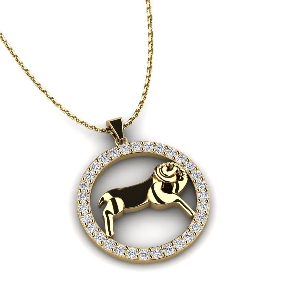 Capricorn Necklace with Diamonds