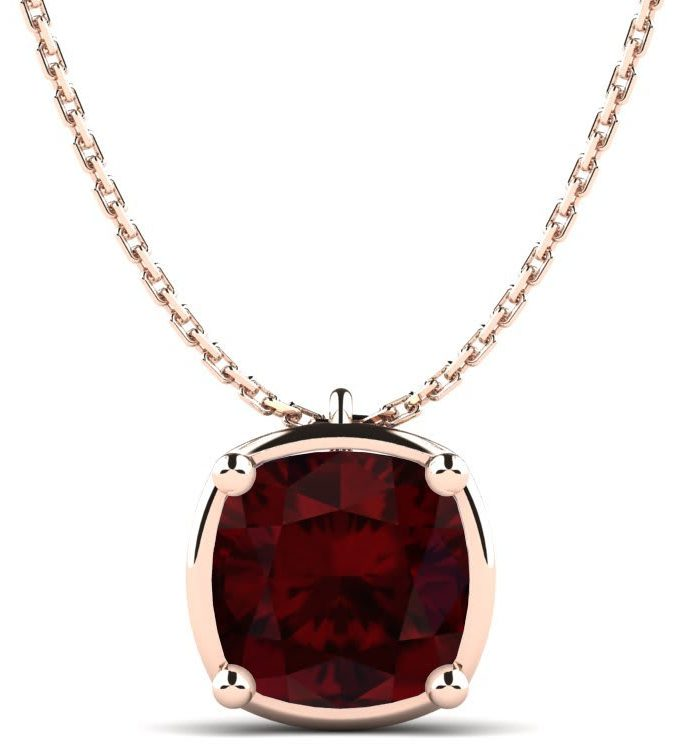 garnet necklace birthstone