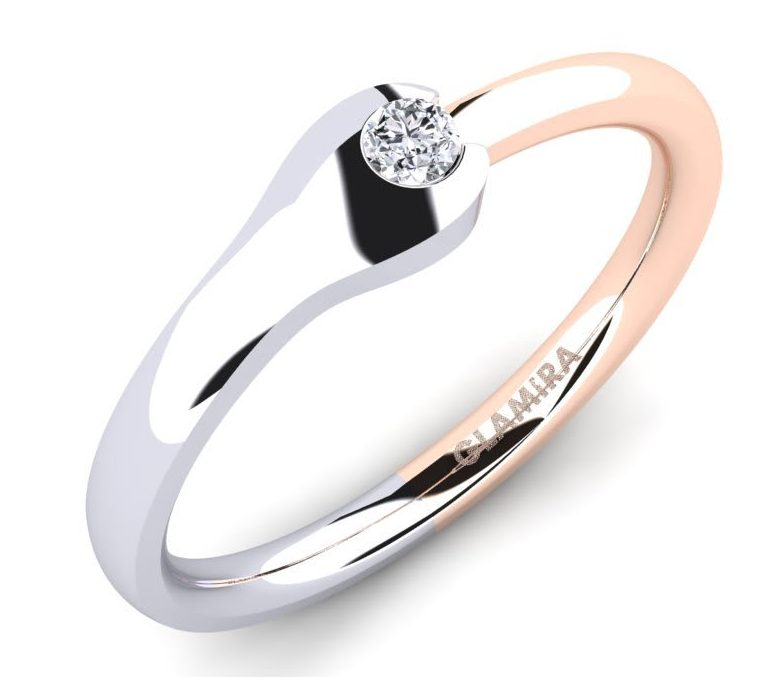 rose gold white gold combination ring