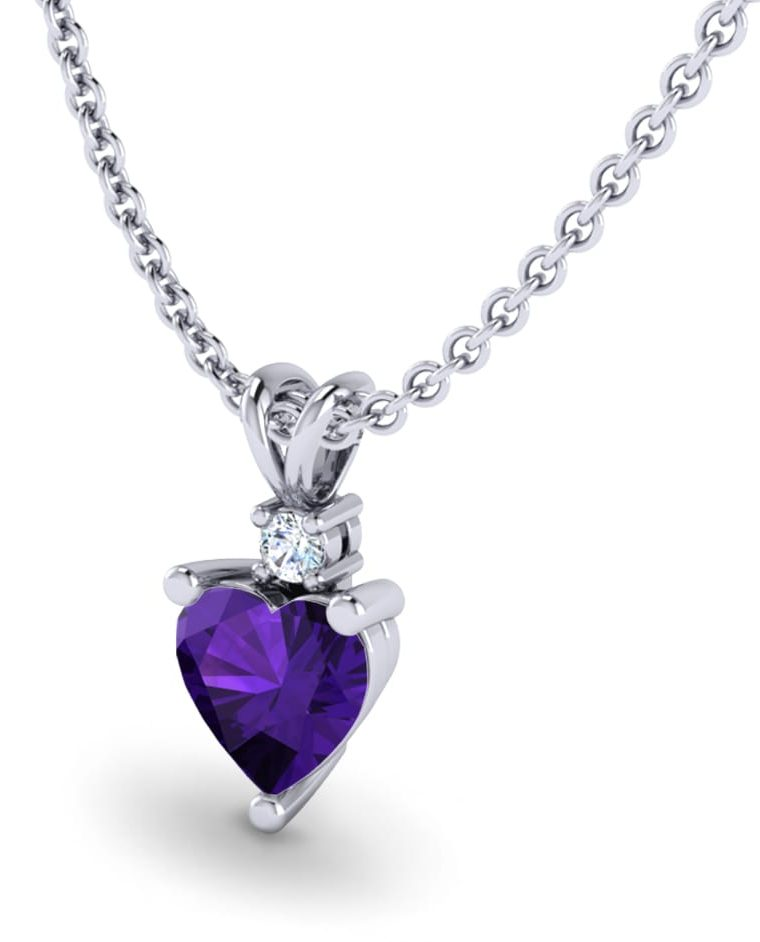 Valentines Gift Amethyst Necklace