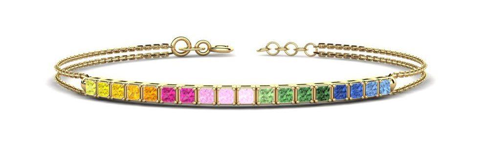 Valentines gift idea multi-sapphire bracelet