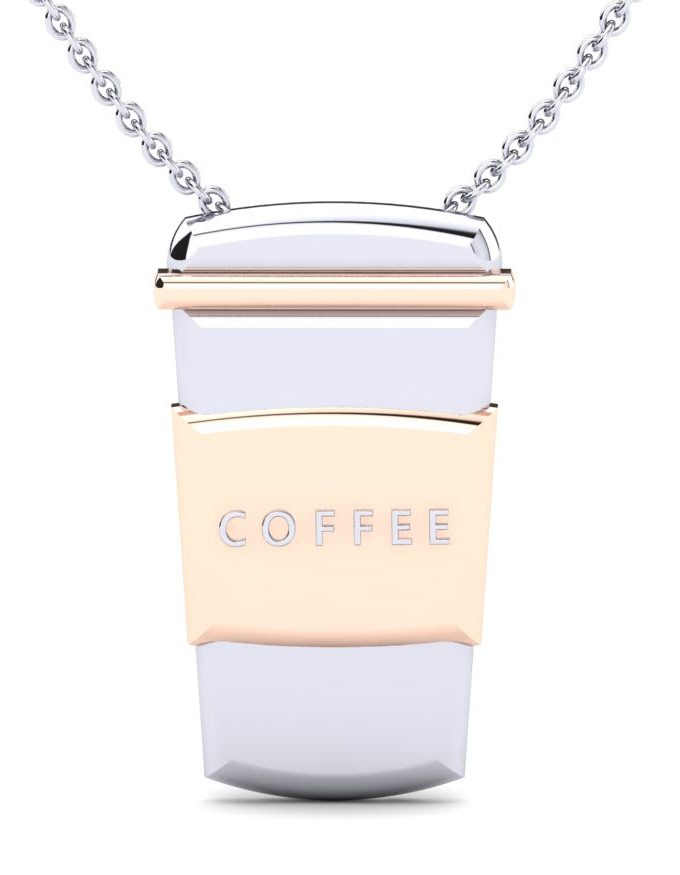 Valentines gifts coffee necklace