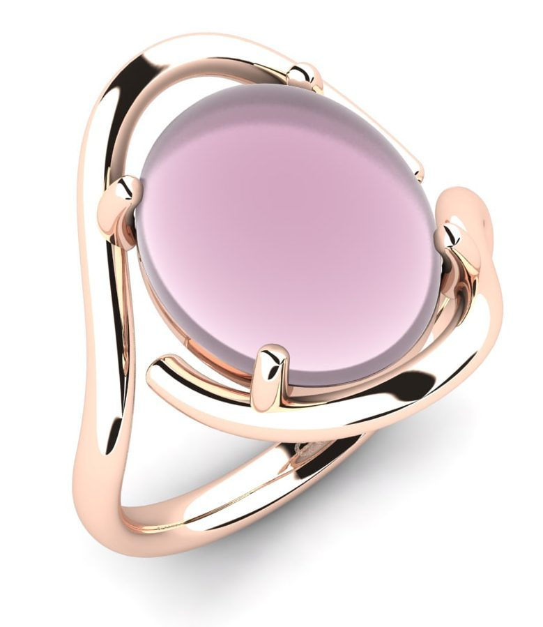 ring pink cabochon ideas for valentines